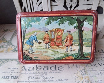A French  Flea Market Find Vintage Tin Box 1930s