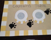 Puppy Foodie Mats.  A canvas mat for your pups bowls.