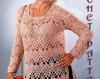Crochet for Big Girls and Woman sumer Top cover large and Xlarge size. Pattern INSTRUCTION only, PDF Files