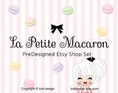 La Petite Macaron- PreDesigned Etsy Shop Banner set