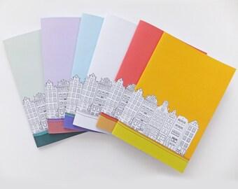 Amsterdam journal, A5 Notebook, Eco-friendly Blank Journal, A5 Sketchbook, Notepad, Travel Journal