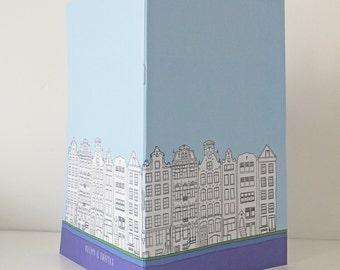 Amsterdam Journal, A5 Notebook, Blank Journal, Pastel Blue Journal, Travel Journal