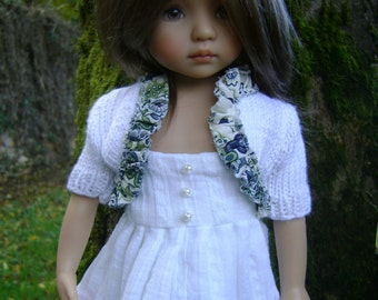 81. French and english knitting pattern PDF - bolero for Little Darling doll 13''