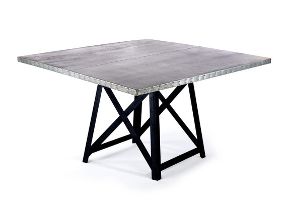 Zinc Table Zinc Dining Table The Uptown Square by  : il570xN742598585km25 from etsy.com size 570 x 407 jpeg 22kB