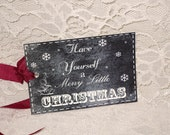 Chalkboard is all The Rage! Chalkboard Decor Style Christmas Gift Tags Christmas Gift Chalkboard Gift Tag