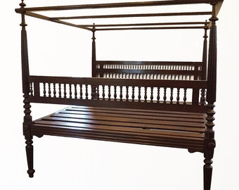 Four Poster Bed // FREE SHIPPING // Romantic India // Classic French Style // Rosewood