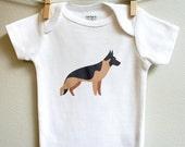 German Shepard baby clothes, German Shepard baby bodysuit, baby boy, baby girl, baby gift