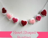 Crochet Pattern Heart Bunting and 3D Heart,granny triangle,crochet heart,valentine bunting, photo tutorial, party bunting