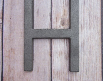 Cast Iron Metal Letter wall art decor vintage style You Pick Alphabet Initial Monogram
