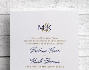 Wedding Invitations Monogram Wedding Invitations - Sample