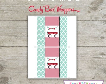 INSTANT DOWNLOAD - Candy Bar Wrapper - Red Wagon - Printable