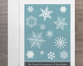 The Fractal Formations of Snowflakes Greeting Card