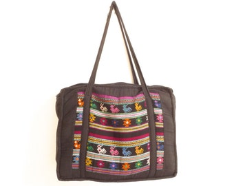 SOUTHWEST ikat style BRIGHT purse extra large TOTE bag