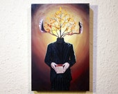 Cube Tree Branch Man - Wo...