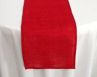 Burlap Table Runner, Red Burlap Runner, Wedding, Party, Shower, Home Decor, Custom Sizes, Large Order Available