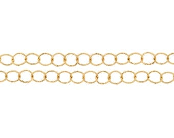 14Kt Gold Filled 3.4mm Twisted Circle Chain - 5ft (2310-5)