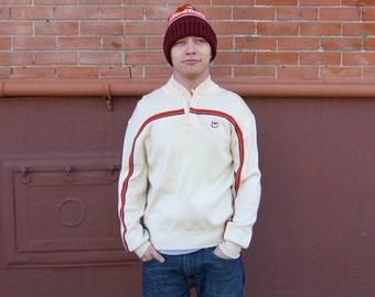SALE 30% OFF - Takin' Care of Business Men's Retro Zip Collar Sweater