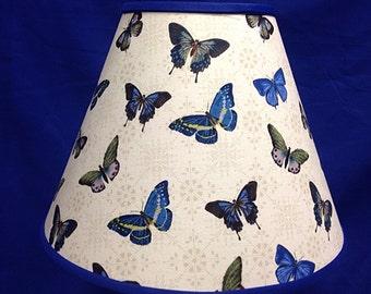 Butterflies Blue Lamp Shade