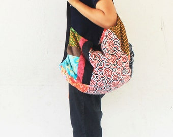 Unique design Hand  made Thai patchwork  Cross body hippie  Bag,hippie bag,bohemain,bagpack,sarong.travel