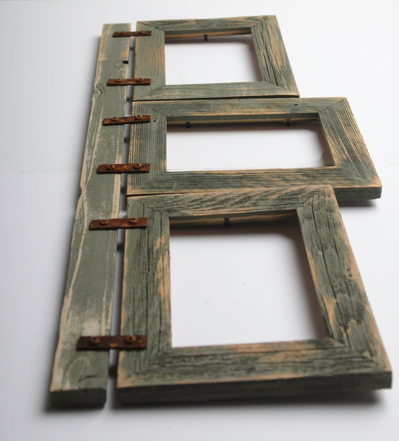 2 barnwood collage sage frame 3 5x7 multi opening. Black Bedroom Furniture Sets. Home Design Ideas