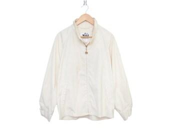 Vintage Woolrich Wash & Wear Bone White Zip Up Size 42 Jacket, Made in USA