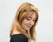 Gold Leaf Headband. Gold Leaf Crown, Greek Wedding, Bridesmaids Gift, Bridal Headpiece, Gold Leaf Headpiece, Leaf Crown, Gold, Greek Goddess