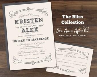 Printable Wedding Invitation - Bliss