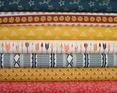 Half Yard Bundle of 7 from the Wild & Free Collection by Maureen Cracknell for Art Gallery Fabrics