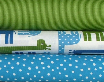 Urban Zoologie Giraffe Fat Quarter Bundle of 3 by Anne Kelle for Robert Kaufman