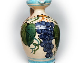 Lovely Italian Majolica Water Pitcher