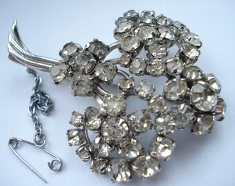 1950's Big Rhinestone Brooch