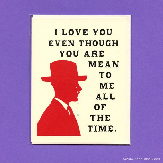 I Love You Quotes Jokes : ... Love Card - Valentine Card - Love You Card - Funny Valentine - Item