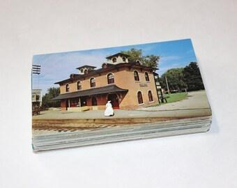 100 Vintage Illinois Chrome Postcards Blank - Wedding Guestbook