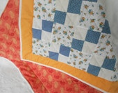 Baby Crib Quilt - Quilted Lap Blanket - Ready to Ship