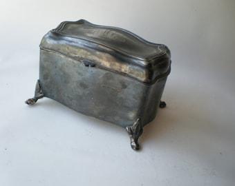 Antique Beautiful Silver Trinket Box