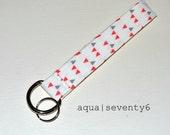 Fabric Wrist Strap Key Ring - Confetti