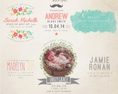 INSTANT DOWNLOAD - Birth Announcement Words Overlays vol.10