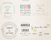INSTANT DOWNLOAD - Save The Date Words Overlays vol.11