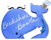Handmade Blue Whale Chalkboard