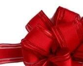 "Beautiful Red Wire Ribbon... 1.5"" X 12 Feet"