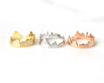Cityscape Ring- San Francisco, adjustable ring / choose your color- gold, silver and pink, skyline ring