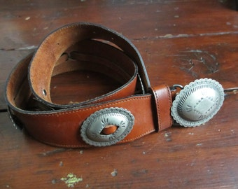 Vintage Leather Conch Belt Solid Leather small/medium