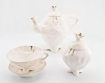Porcelain Tea Set, Alice in Wonderland