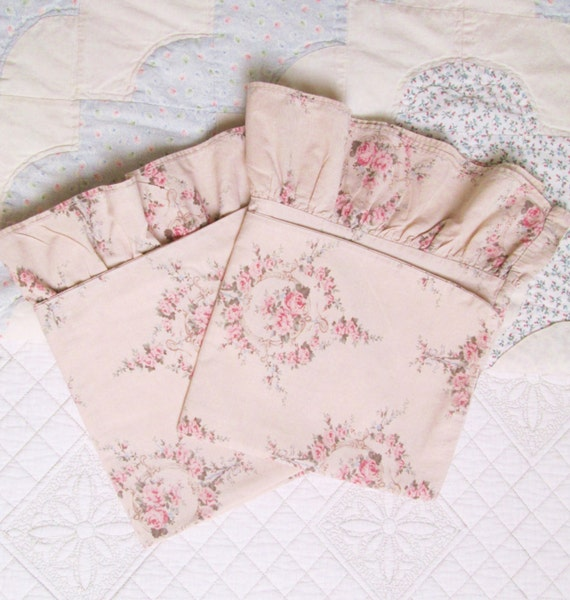 ralph lauren trianon floral pillow cases shabby by TheGirlyCottage