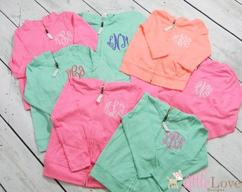 Monogrammed Jacket- Monogrammed Hoodie- Embroidered Jacket- Infant, Toddler, Girls Jacket