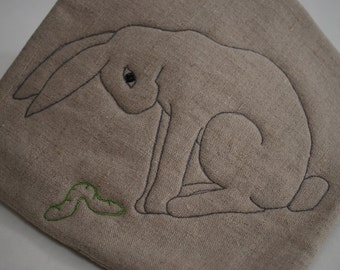 quilted burlap potholder or hot pad