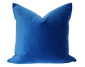 Marine Blue Velvet Pillow Cover - Made-to-Order