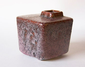 Vintage Dutch Purple/Brown Lava Vase -  Afina Rijnsburg 60s (5)