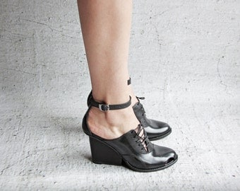 TILIAN - Black - FREE SHIPPING Handmade Leather Shoes with Summer Sale Price