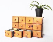 Antique Vintage Apothecary Cabinet  General Store Drawer Unit Spice Box